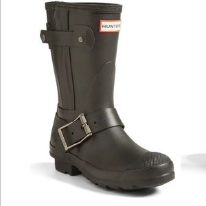 Rare sold out hunter moto boots worn twice!
